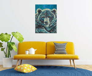 Bear Spirit Animal Painting in sitting room
