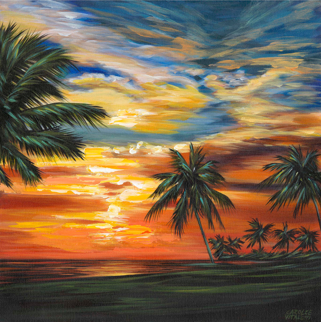 Stunning Tropical Sunset | Canvas Print