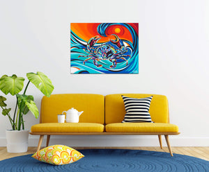 Wavy Crab | Canvas Print