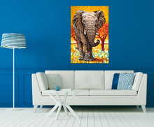 Load image into Gallery viewer, Wild Elephant | Original Acrylic Painting