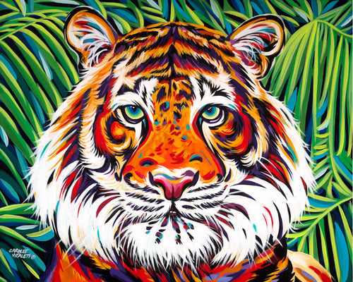 Bold Tiger painting