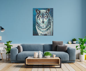 Wolf Spirit Animal | Original Acrylic Painting