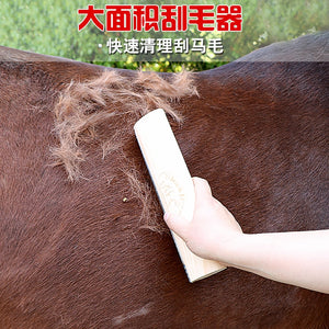Cleaning brush horses