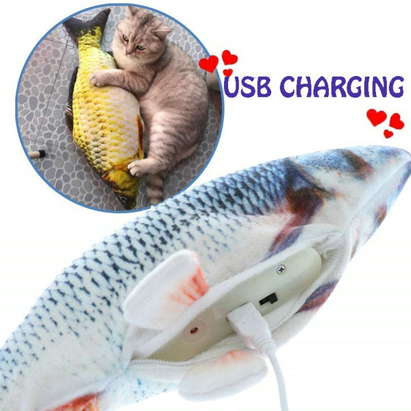 Fish Toy Stimulation Interactive Plush