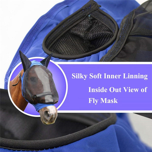 Full Face Mesh Anti-UV Anti Fly Mask With Ears