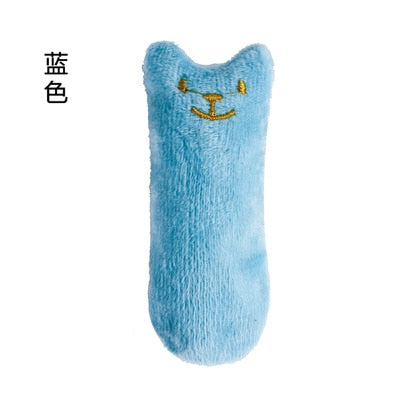 Teeth Grinding Catnip Toys Funny Interactive Plush Cat Toy Pet Kitten Chewing Vocal Toy Claws Thumb Bite Cat mint For Cats