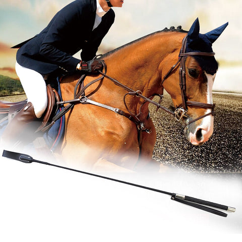Flogger Leather Stage Performance Horseback Lash Equestrian Racing Durable Supplies Horse Whip Riding Role Plays Non Slip Handle
