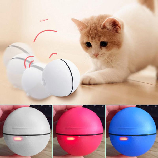 Explosive Pet Jumping Ball Electric Pet LED Rolling Flash Ball Funny Toy Home Pet Dog Cat Interactive Laser Ball Light Toys