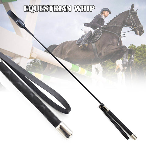 51cm Leather Horsewhips Equestrian Horseback Riding Whips Lash Supplies Portable Lightweight More Durable Horse Training Whip MV