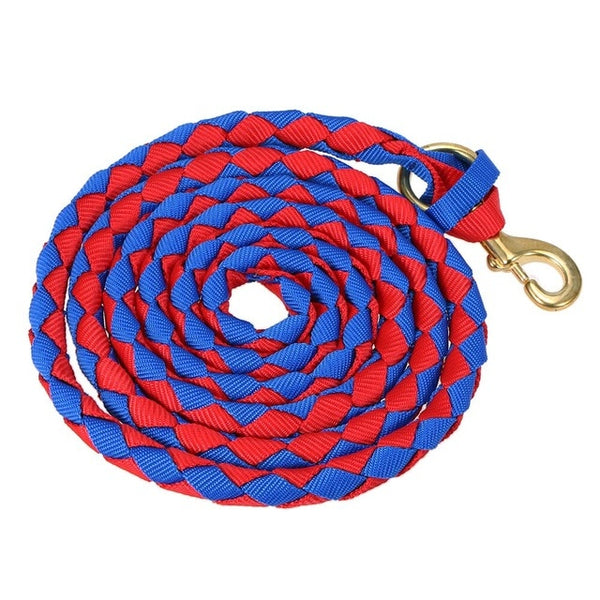 Braided Horse Rope Horse Leading Rope Braid Horse Halter with Brass Snap 2.0M / 2.5M / 3.0M