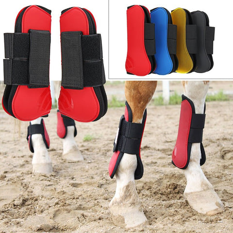 Durable PU 4 Colors Horse Leg Partner Horse Leg Guard Horse Guard Tendon Protect Riding Horse Guard Fetlock Pet Equestrian