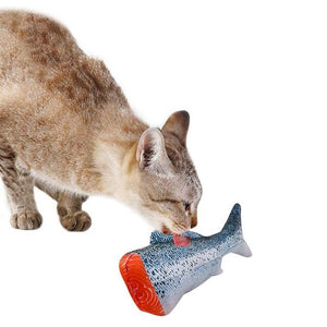3D Fish Plush Cat Pet Toy Interactive Gifts Fish Catnip Toys Stuffed Pillow Doll Simulation Fish Playing Toy For Pet