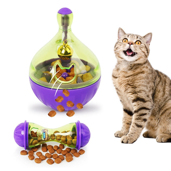 Pet Fun Bowl Feeder Dog Cat Feeding Toys Pet Tumbler Leakage Food Ball for Training Playing Exercise IQ Toy Pets Supplies