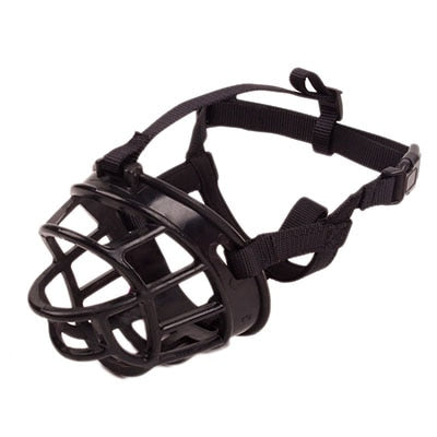 Silicone Basket Dog Muzzle Adjustable & Comfortable Secure Fit Durable Lightweight Rubber Dog Muzzle Stop Biting Safe Training