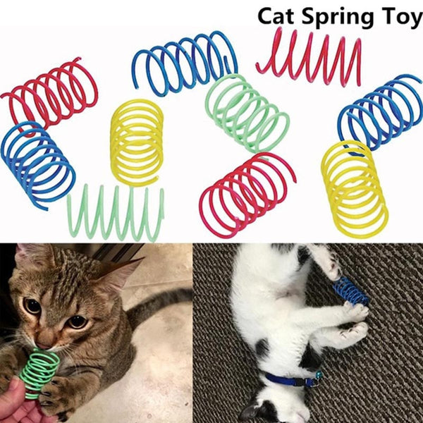Pet toy Funny Kitten Cat Playing Toy Durable Wear-Resistant Bright Color Springs Pet Suppli