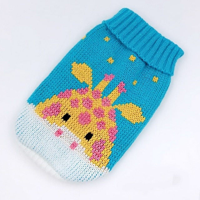 Winter Cartoon Cat Clothes Warm Christmas Cat Sweater For Small Dogs Clothes Pet Clothing Dog Coat Jacket Kitty Ropa Para Perros