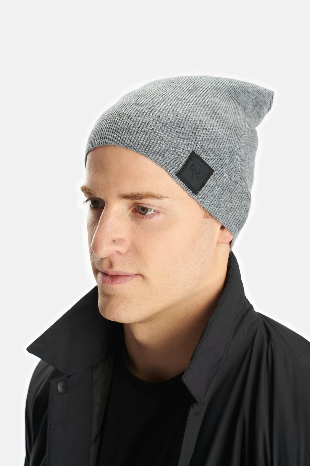 RYU Accessories Slouch Beanie in Titanium