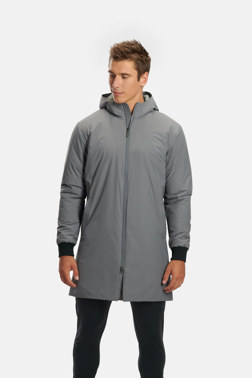 RYU Mens Sideline Parka in Cement