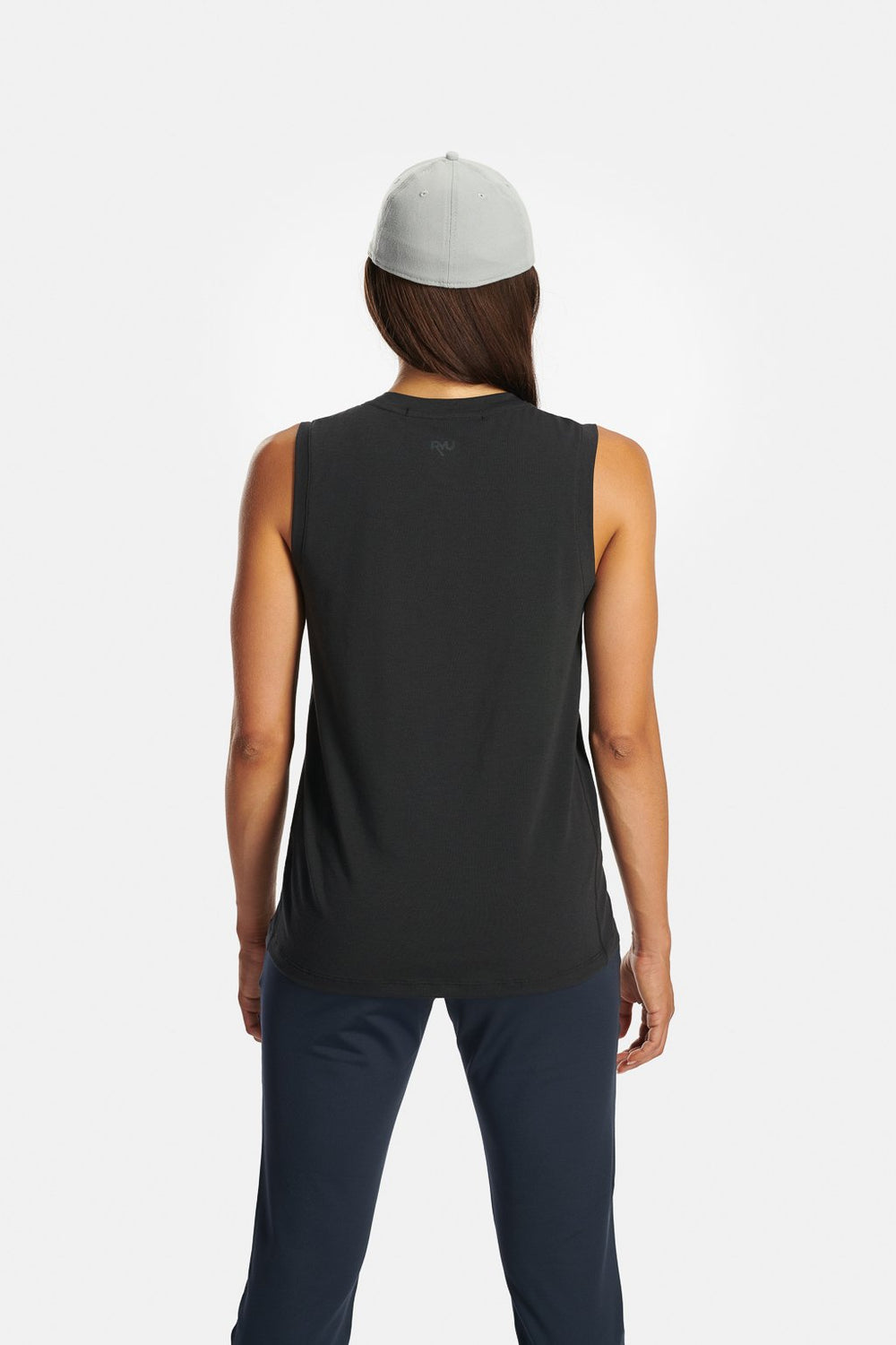 RYU Womens Standard Issue Tank in Asphalt Heather
