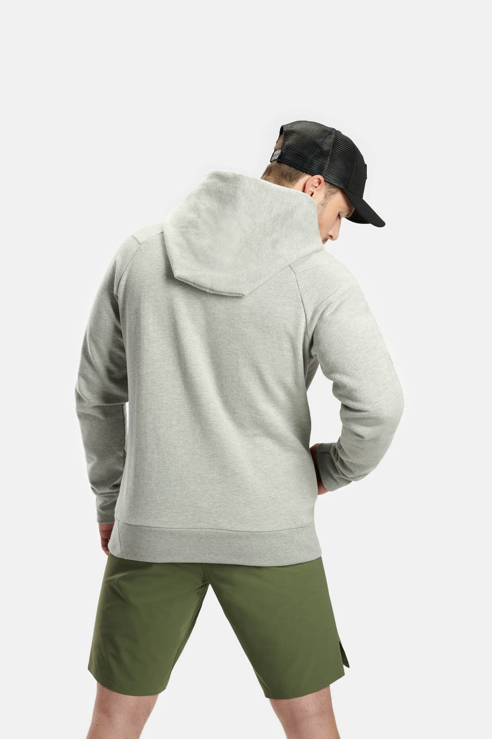 RYU Mens Core Hoodie in Heather Athletic Grey