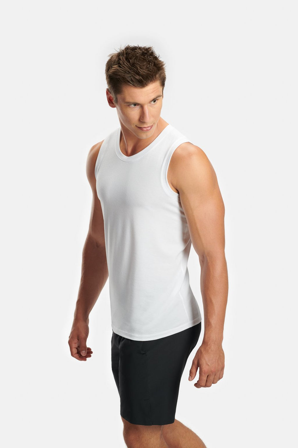 RYU Mens Standard Issue Tank - RYU Graphic in White