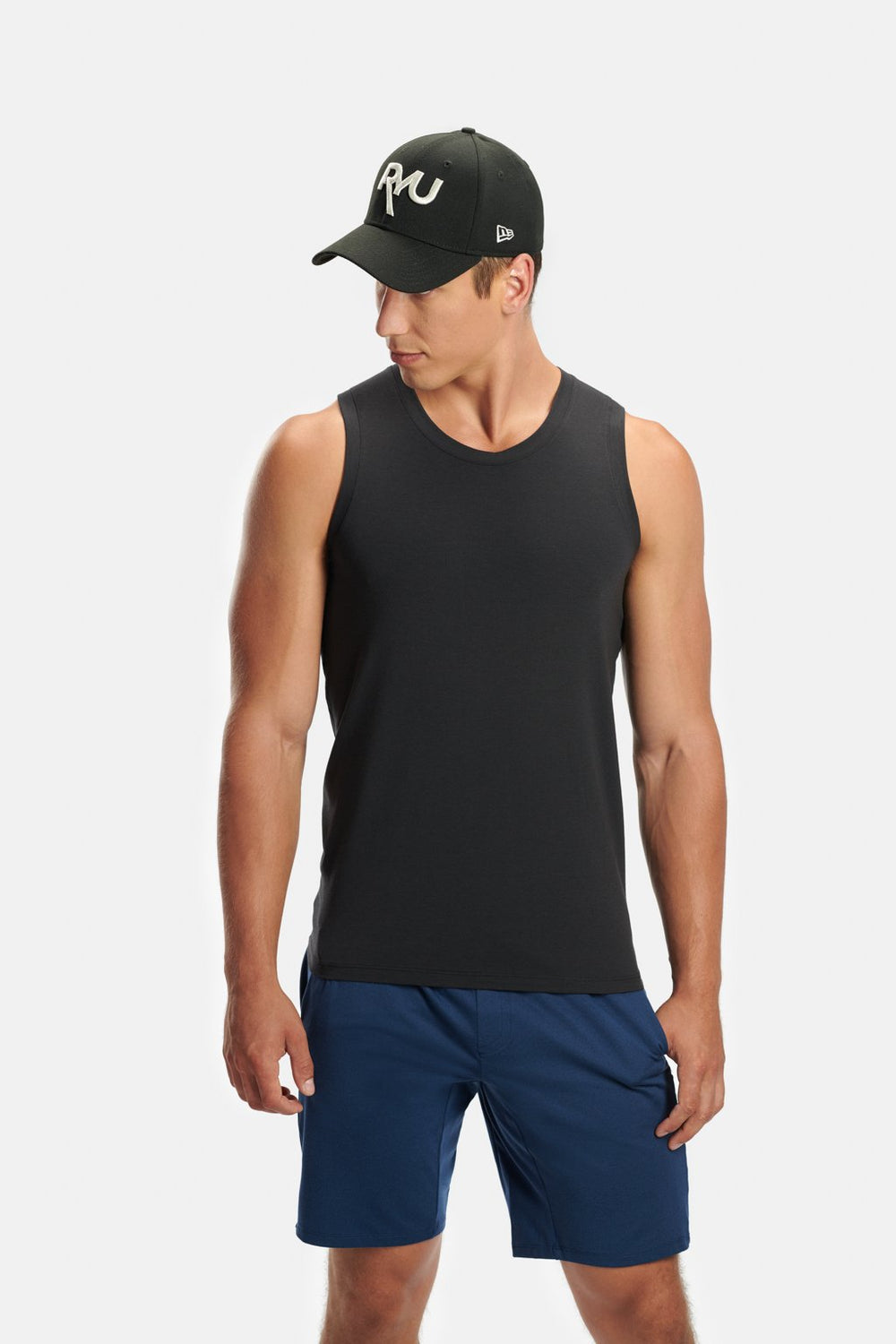 RYU Mens Standard Issue Tank - RYU Graphic in Raven