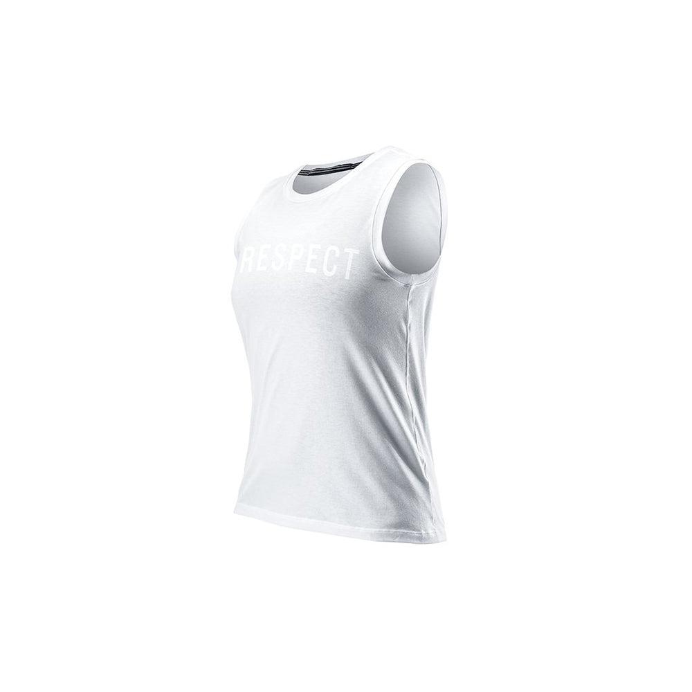 RYU Womens Standard Issue Tank - Respect Graphic in White