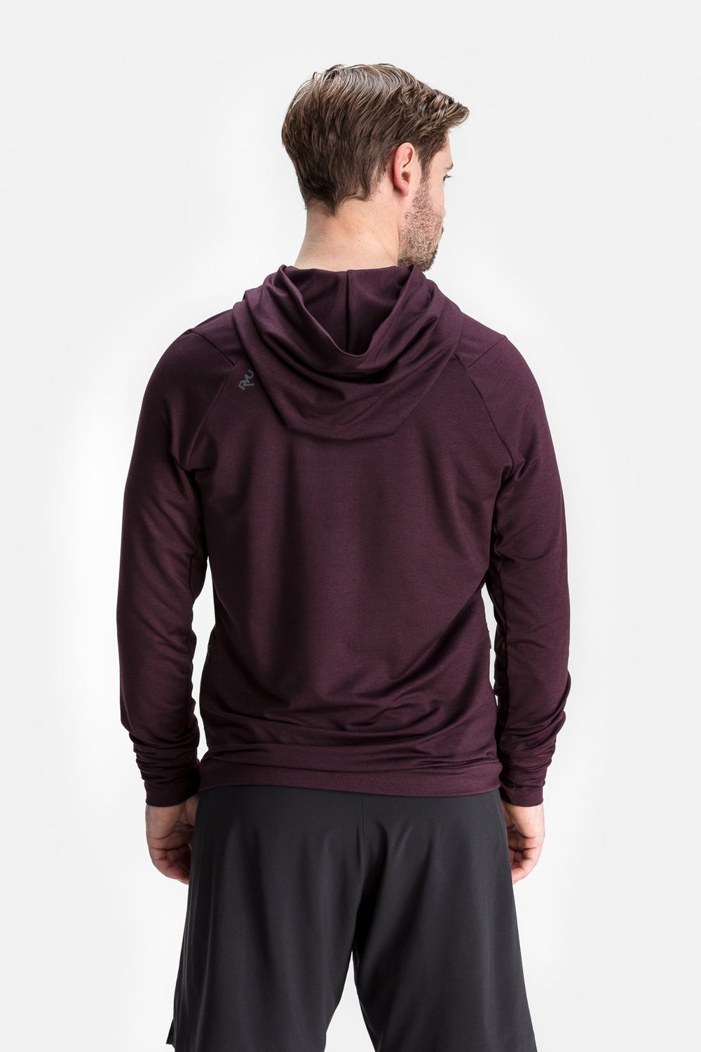 RYU Mens MidLayr Hoodie in Blackened Port