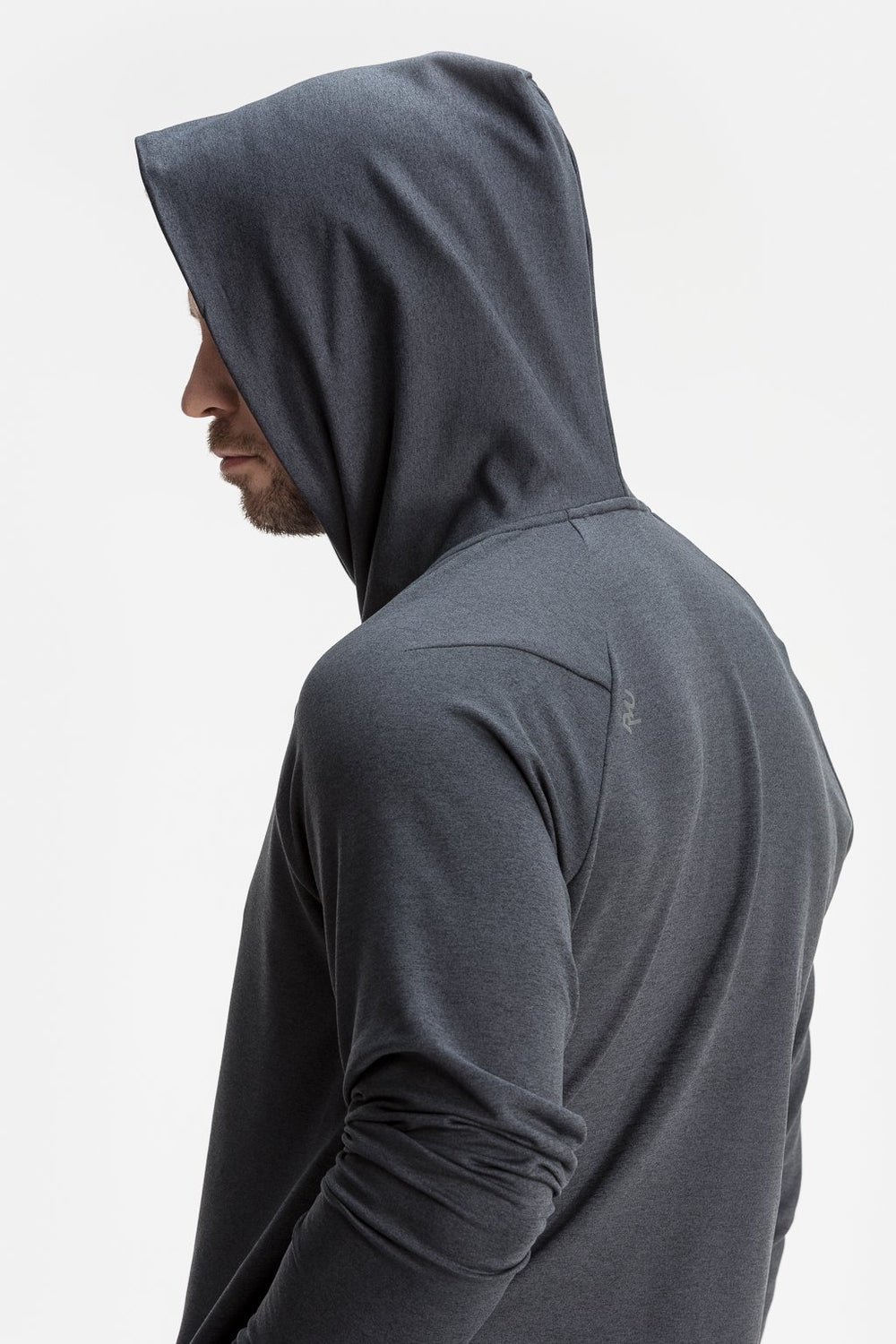 RYU Mens MidLayr Hoodie in Asphalt Heather