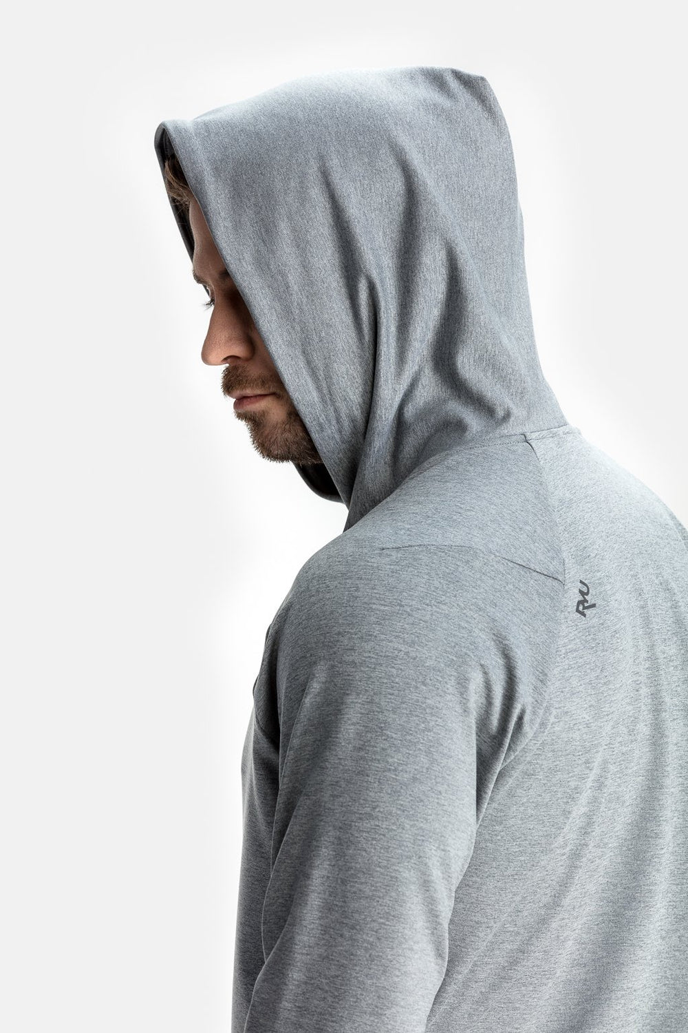 RYU Mens MidLayr Hoodie in Athletic Grey Heather