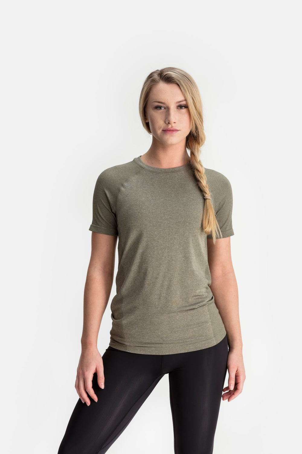 RYU Womens Vapor Crew Neck in Fatigue
