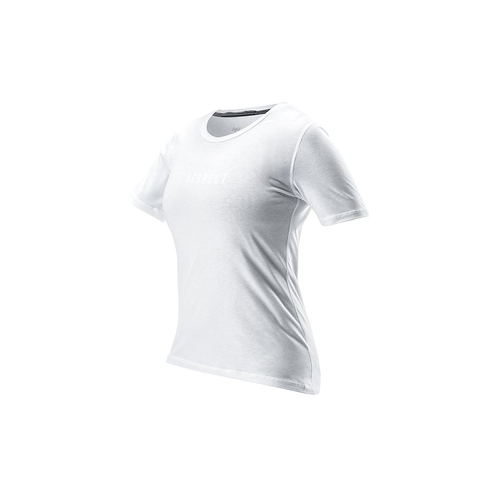 RYU Womens Standard Issue Tee - Respect Graphic in White