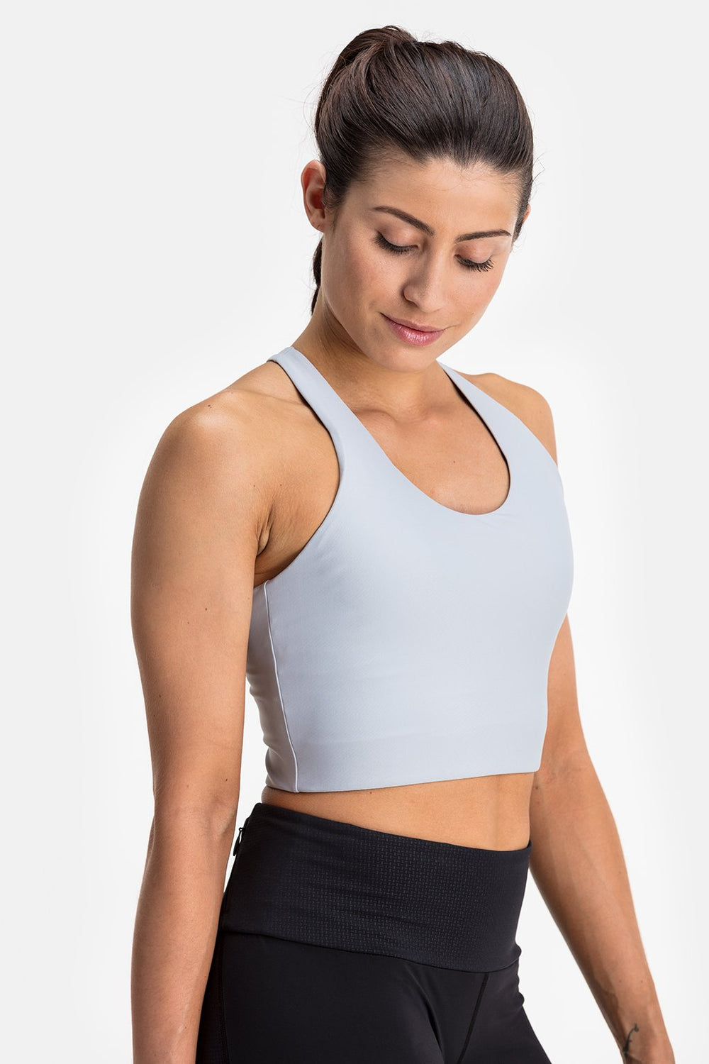 RYU Womens Bra Top in Platinum