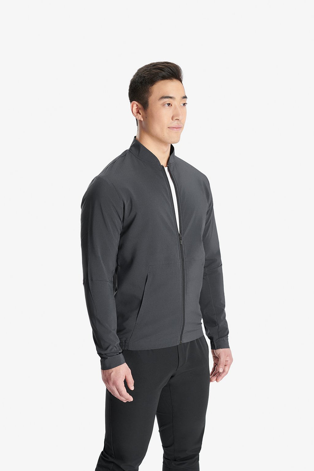 RYU Mens Woven Bomber Jacket in Cinder