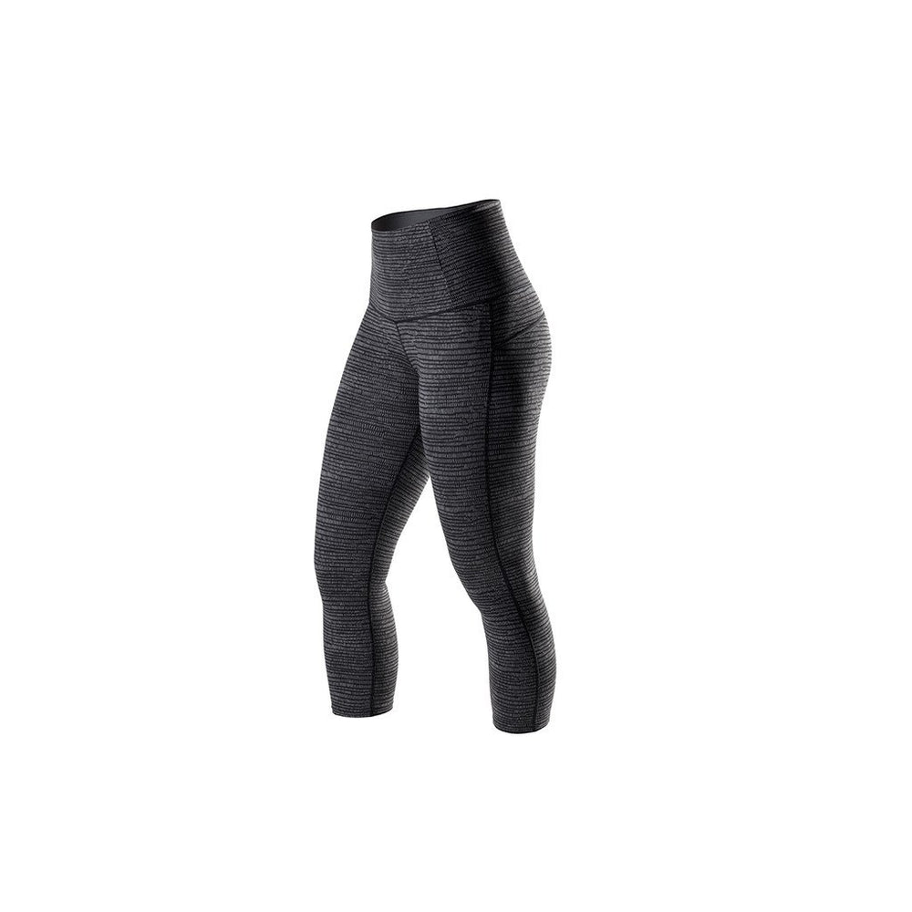RYU Womens Tough Capri - Interlock HiRise in Charcoal Texture