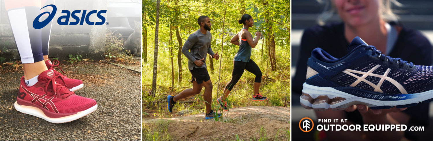 Asics apparel and shoes on OutdoorEquipped.com