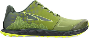 Altra Men's Superior 4.5 Trail Running Shoe in Green/Lime Side View