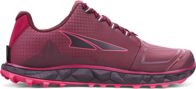 Altra Women's Superior 4.5 Trail Running Shoe in Black/Pink Side View