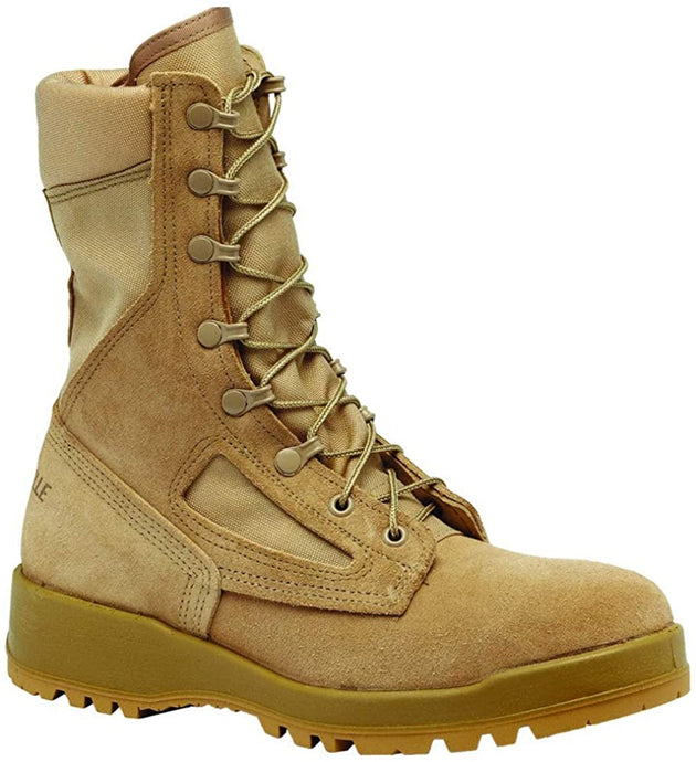 Belleville Men's 340 DES Hot Weather Flight & Combat Vehicle Boot in Desert Tan Side Angle View