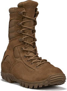"Belleville Men's 533ST Sabre 8"" Hot Weather Hybrid Steel Toe Assault Boot in Coyote Side Angle View"