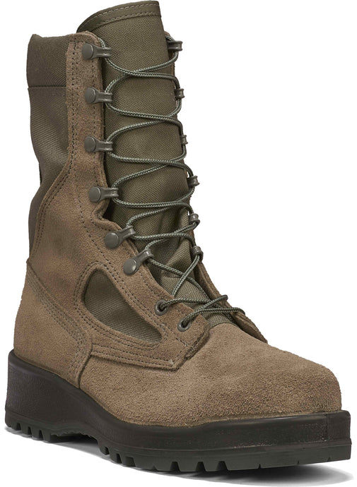 Belleville Men's 600 ST Hot Weather Steel Toe Boot in Sage Side Angle View