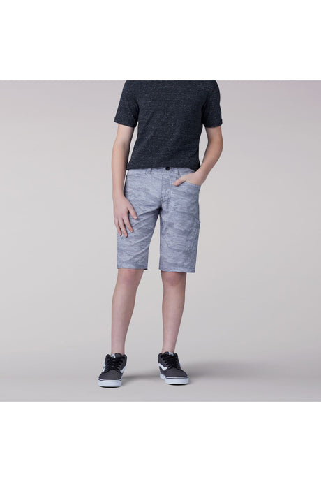 Grafton Cargo Short in Light Gray Digi Camo from Front View
