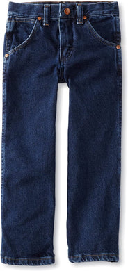 Boys' Wrangler Cowboy Cut Jean 8-16 in Dark Indigo from the front