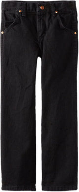 Boys' Wrangler Cowboy Cut Jean 8-18 in Overdyed Black from the front