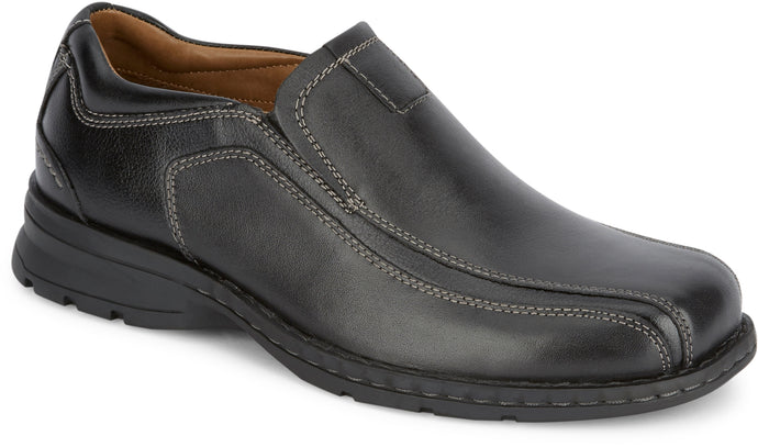 Dockers Mens Agent Leather Dress Casual Loafer Shoe in Blackcolor from the side view