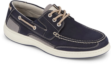 Dockers Footwear Men's Beacon Boat Shoe in Navy Side Angle View