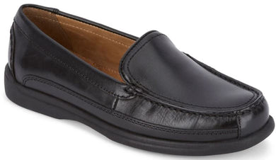Dockers Footwear Men's Catalina Casual Loafer Shoe in Black Side Angle View