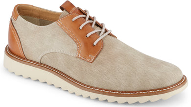 Dockers Footwear Men's Edison Smart Series Oxford Shoe in Sand Side Angle View