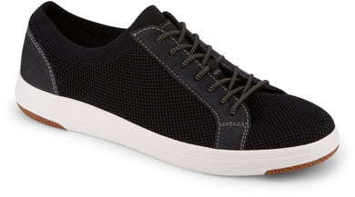 Dockers Footwear Men's Franklin Casual Sneaker Shoe in Black Side Angle View