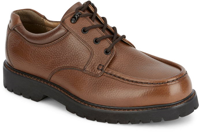Dockers Footwear Men's Glacier Casual Oxford Shoe in Dark Tan Side Angle View
